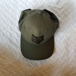 Army Green Baseball Cap with Tiger Decal